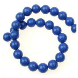Наниз порцелан 10 мм син тъмно ~39 броя