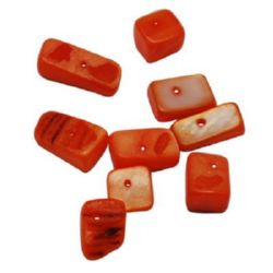 Bead mother-of-pearl 6 ~ 8x8 ~ 10x7 ~ 10mm hole 2mm orange -50g ~ 64pcs