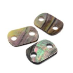 Beads mother of pearl tile 27x19x2 hole 5 mm MIX - 1 piece