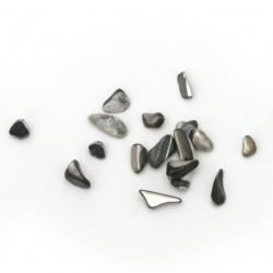 Морски раковини чипс 2~15x2~10x1~5 мм цвят черен -50 грама