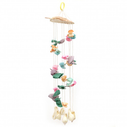 Wind bell made of mussels and shells for decoration 360 mm