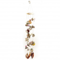 Wind bell made of mussels and shells 700 mm,for decoration