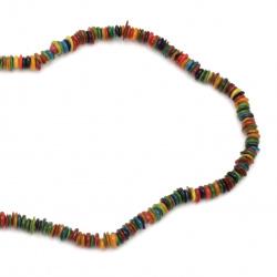 Χάντρες τσιπς από σεντέφι 5-10 mm τρύπα 1 mm  χρωματιστά ~ 80 cm