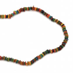Наниз седеф 5-10 мм дупка 1 мм чипс цветен ~80 см