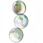 Coardă monedă sidefată 13x4 mm gaură 1 mm ~ 32 bucăți