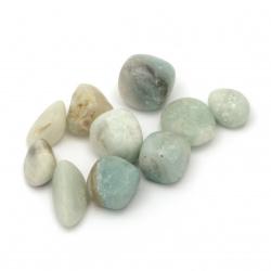 Φυσική πέτρα Αμαζονίτης χωρίς τρύπα 12 ~ 20x18 ~ 30 mm -50 γραμμάρια