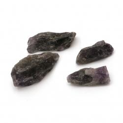 Естествен камък АМЕТИСТ натурален без дупка 19~42x17~30x10~16 мм -100 грама