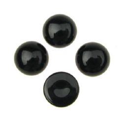 Cabochon din piatră semiprețioasă tip AHAT cerc negru 10x5 mm