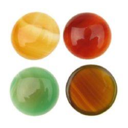 Semi-precious stone agate cabochon type  20 x 6 mm MIX