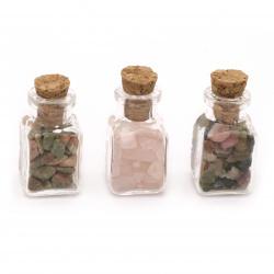 Ημιπολύτιμες πέτρες σε βάζο 32x22 mm Μιξ