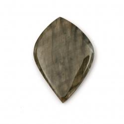 Полускъпоценен камък тип кабошон ЛАБРАДОРИТ АСОРТЕ форми 6~35x10~50x3~7 мм