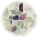 Естествен камък ФЛУОРИТ без дупка 5~8 мм - 50 грама