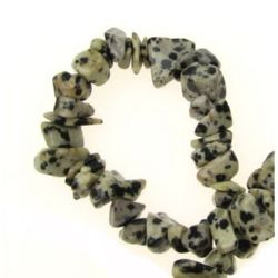 DALMATIAN JASPER Grade A Gemstone Chip Beads Strand 5-7 mm ~ 90 cm