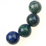 Natural Azurite Round Beads Strand 10 mm ~ 38 pieces