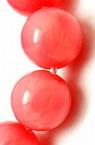 Наниз мъниста полускъпоценен камък КОРАЛ розов топче 4 мм ~96 броя
