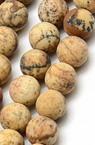 Наниз мъниста полускъпоценен камък ЯСПИС пейзажен топче матирано 10 мм ~38 броя