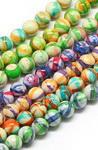 Margele de sfoară piatră semiprețioasă TURCOASE bilă de culoare sintetică 6 mm ~ 66 bucăți