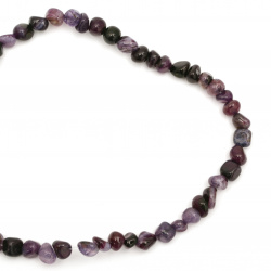 String  beads striped  stone Agate purple 6 ~ 12x6 ~ 15 mm ~ 50 pieces