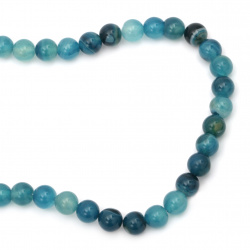 String beads Agate blue ball 10 mm ~ 38 pieces