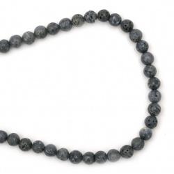 Margele de sfoară piatră semiprețioasă Minge albastră CORAL 6 mm ~ 63 bucăți