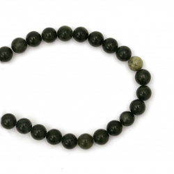 Наниз мъниста полускъпоценен камък ЖАДЕИТ Xinyi топче 8 мм ~48 броя