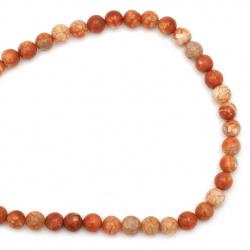 Șir de mărgele din piatră semiprețioasă AGAT  crapate portocaliiu 10 mm ~ 38 bucăți