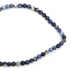 String beads  cracked  stone Agate blue ball 8 mm ~ 48 pieces