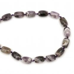 Margele de sfoară piatră semiprețioasă AMETISTA ovală fațetată 15x10 mm ~ 24 bucăți