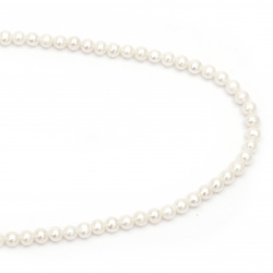 String Beads Natural Pearl 6mm Hole 0.5mm Grade AAA Color Cream ~ 64pcs