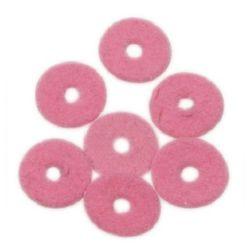 Șaibă din velur 10x2 mm roz -2.95 grame ~ 105 bucăți