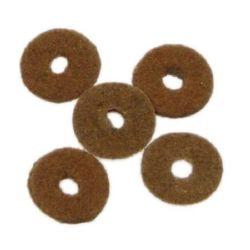 Шайба велур 10x2 мм кафява -2.95 грама ~105 броя