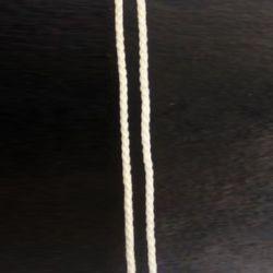 Шнур объл 3 мм Г1-1 бял -50м.