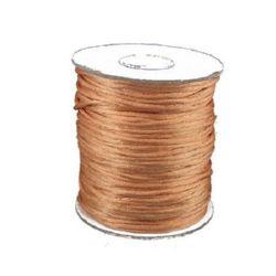 Snur poliamidă strălucitor 2 mm portocaliu -10 metri