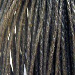 Snur bumbac 1,5 mm 3 straturi negre ~ 90 metri