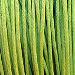 Jewellery cotton elastic1 mm green light ~ 76 meters