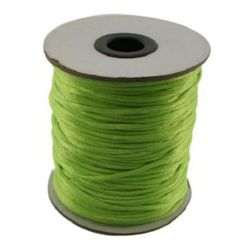 Jewellery Cord polyamide shiny 2 mm green light -10 meters