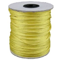 Jewellery Cord polyamide shiny 2 mm yellow -10 meters
