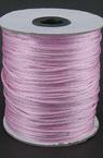 Snur poliamidă strălucitor 2 mm roz deschis -10 metri
