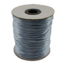 Шнур полиамид лъскав 2 мм син светло -10 метра