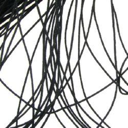 Шнур полиестер с основа корда 0.8 мм черен -90 метра