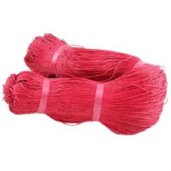 Colored cotton cord 1 mm red ~ 76 meters