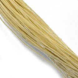 Colored cotton cord1 mm yellow light ~ 76 meters