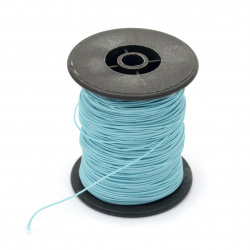 Polyester cord with cord base 0.8 mm blue light ~ 100 meters