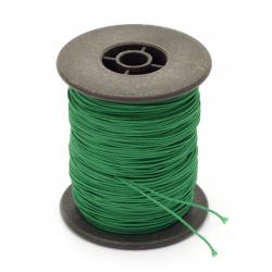 Шнур полиестер с основа корда 0.8 мм зелен ~100 метра