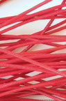 Памучен колосан шнур 1.5 мм червен ~60 метра