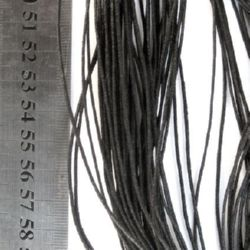 Шнур памук колосан 2 мм черен ~70 метра