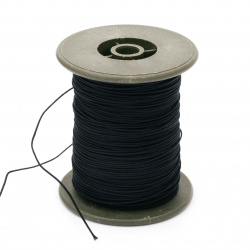 Polyester cord with cord base 0.8 mm black ~ 100 meters