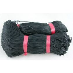 Colored cotton cord1.5 mm black ~ 72 meters