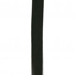 Шнур плосък от полипропилен 25 мм черен -5 метра