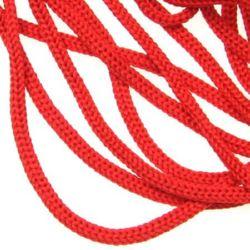 Шнур 3 мм червен (за торбички) -100 метра